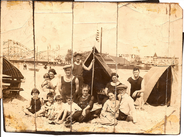 Coney Island Tierney Family 1920