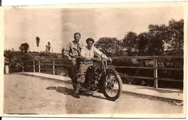 Uncle Joseph Simanek on Motorcycle Predmir, Czechoslovakia